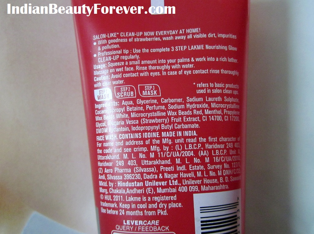 Lakme Clean up Nourishing Glow Face Wash Review