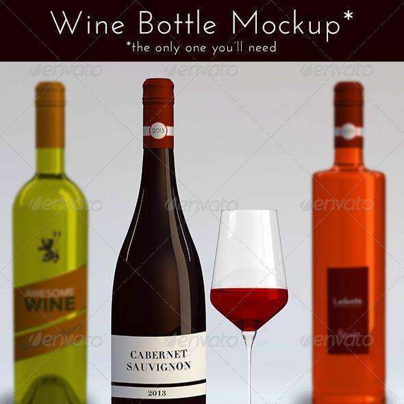 Download Burgundy Wine Bottle Mockup Yellowimages