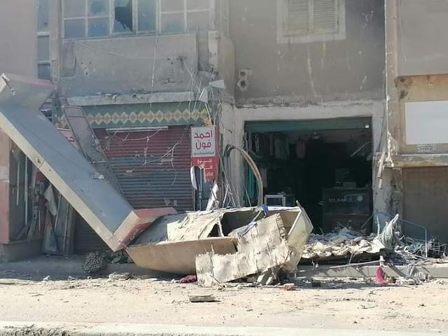 إخلاء عقار سكني عقب انهيار شرفة في دمنهور