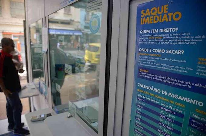 Governo autoriza saques de R$ 1.045 do FGTS