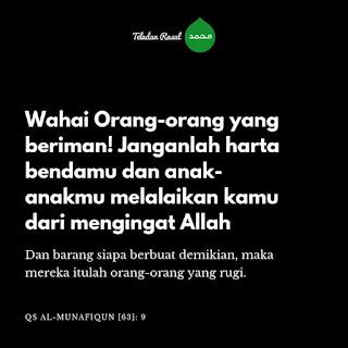 Kata mutiara islam daru surah al Munafiqun