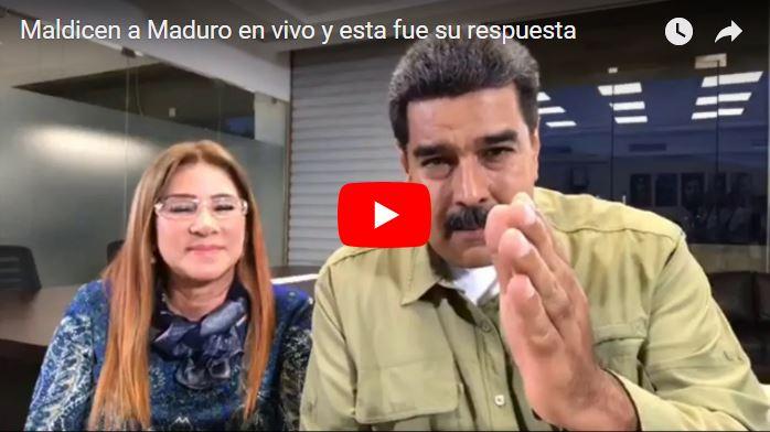 """Llaman a Maduro """"recontramaldito"""" en una conversación en directo"""