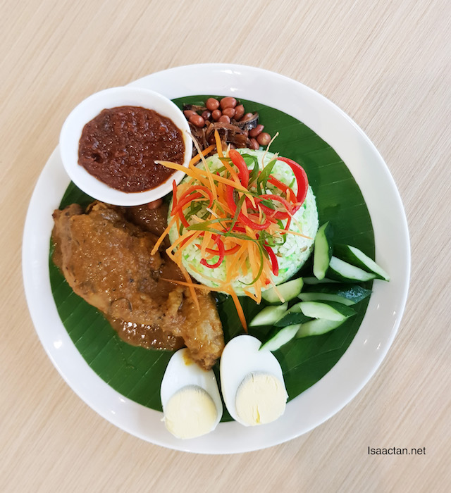Classic Nasi Lemak With Chicken Rendang & Traditional Condiments - RM15