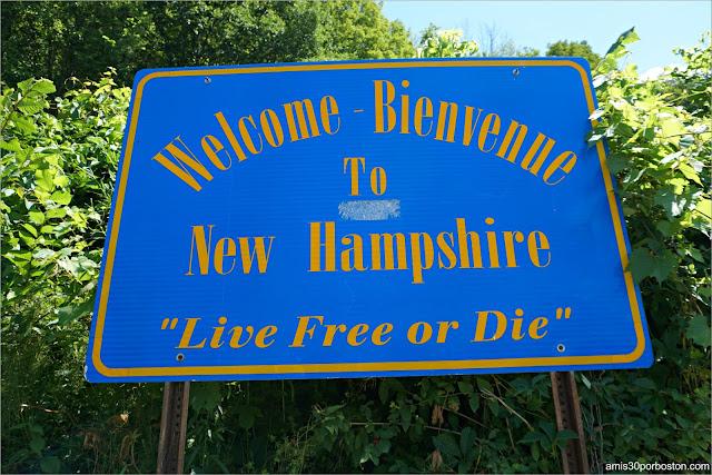 Cartel de Bienvenida al Estado de New Hampshire