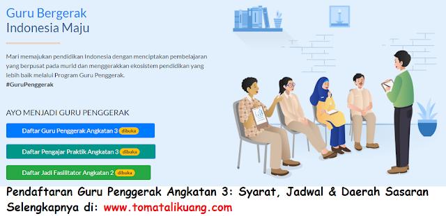 syarat jadwal pendaftaran guru penggerak angkatan 3 tomatalikuang.com