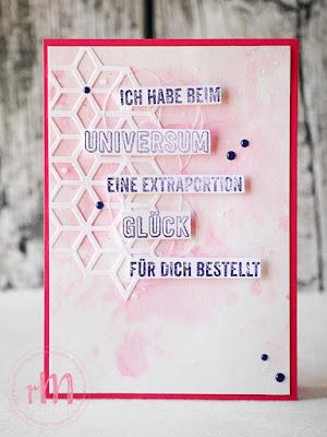 Stampin' Up! rosa Mädchen Kulmbach: Glückwunschkarte mit Aquarelltechnik und Wenn die Worte fehlen