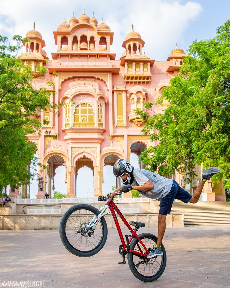 Bicycle Stunts with Shevi Naruka at Patrika Gate, Jawahar Circle, Jaipur