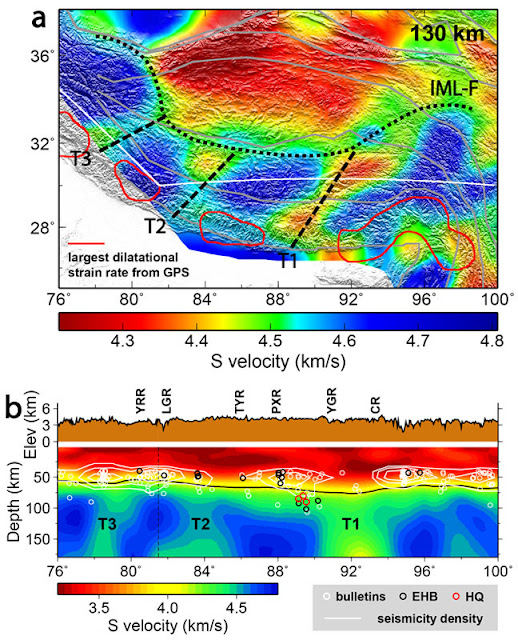 New model reveals rips in Earth's mantle layer below southern Tibet