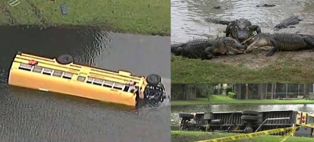 باص يقل 27 طفل سقط في بحيرة مليئة بالتماسيح.. ثم حدث ما لم يكن بالحسبان! شاهد كيف أنقذهم طفل عمره 10 سنوات من الكارثة!