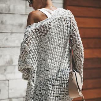 Women's Knit long Cardigan Loose