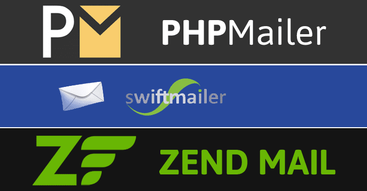Critical Updates — RCE Flaws Found in SwiftMailer, PhpMailer and ZendMail