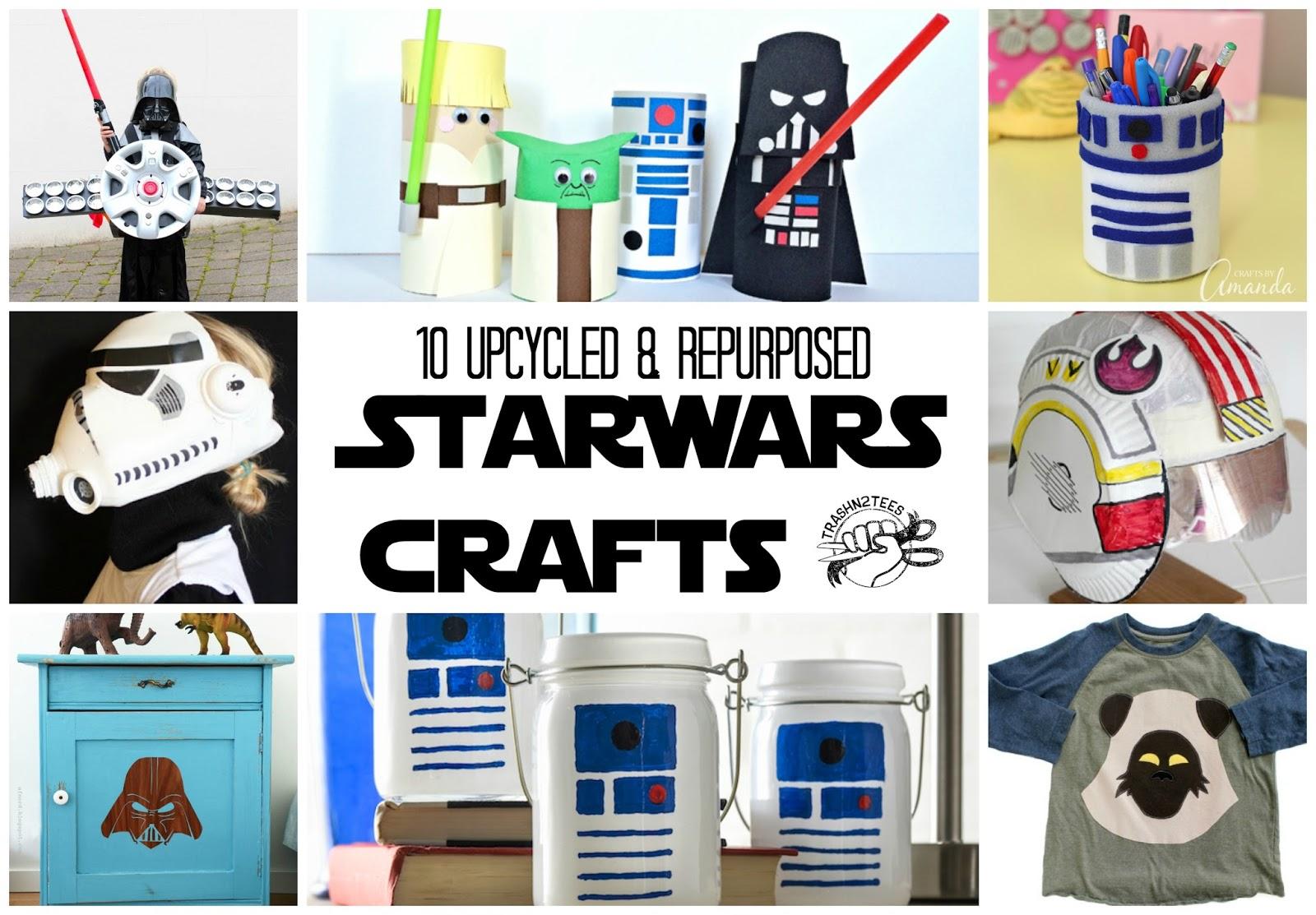 upcycled star wars crafts. Black Bedroom Furniture Sets. Home Design Ideas