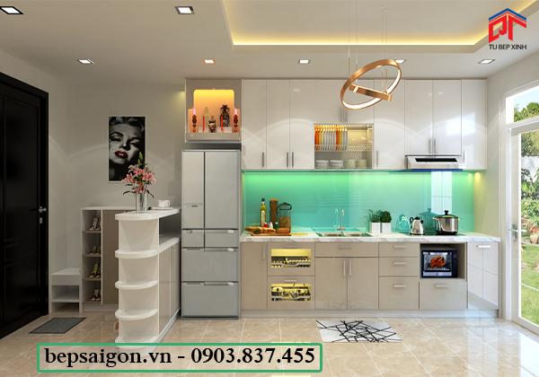 tu bep, tủ bếp đẹp, tủ bếp hiện đại, tủ bếp acrylic