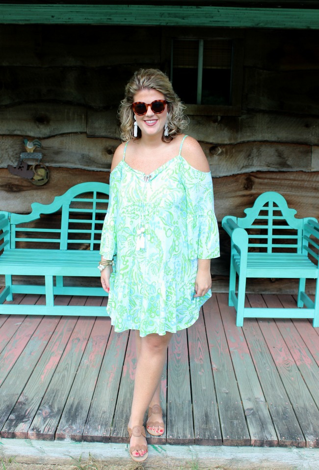 Lilly Pulitzer Off-The-Shoulder Dress
