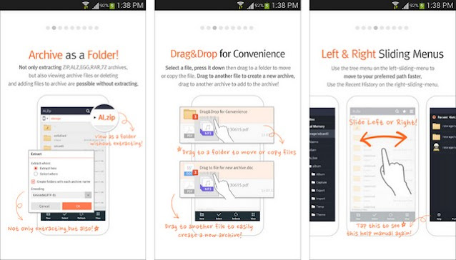 ALZip -  أفضل تطبيقات فتح الملفات المضغوطة للاندرويد