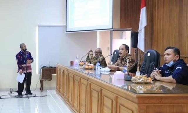 Bupati dan Wakil Bupati Pangandaran Hadiri Rakor Pencegahan Perkembangan Penyebaran Covid-19