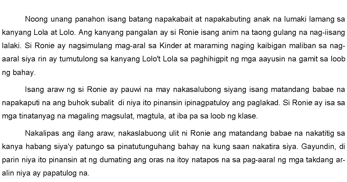 Maikling Kwento ng Pambata - Example of Short Stories for