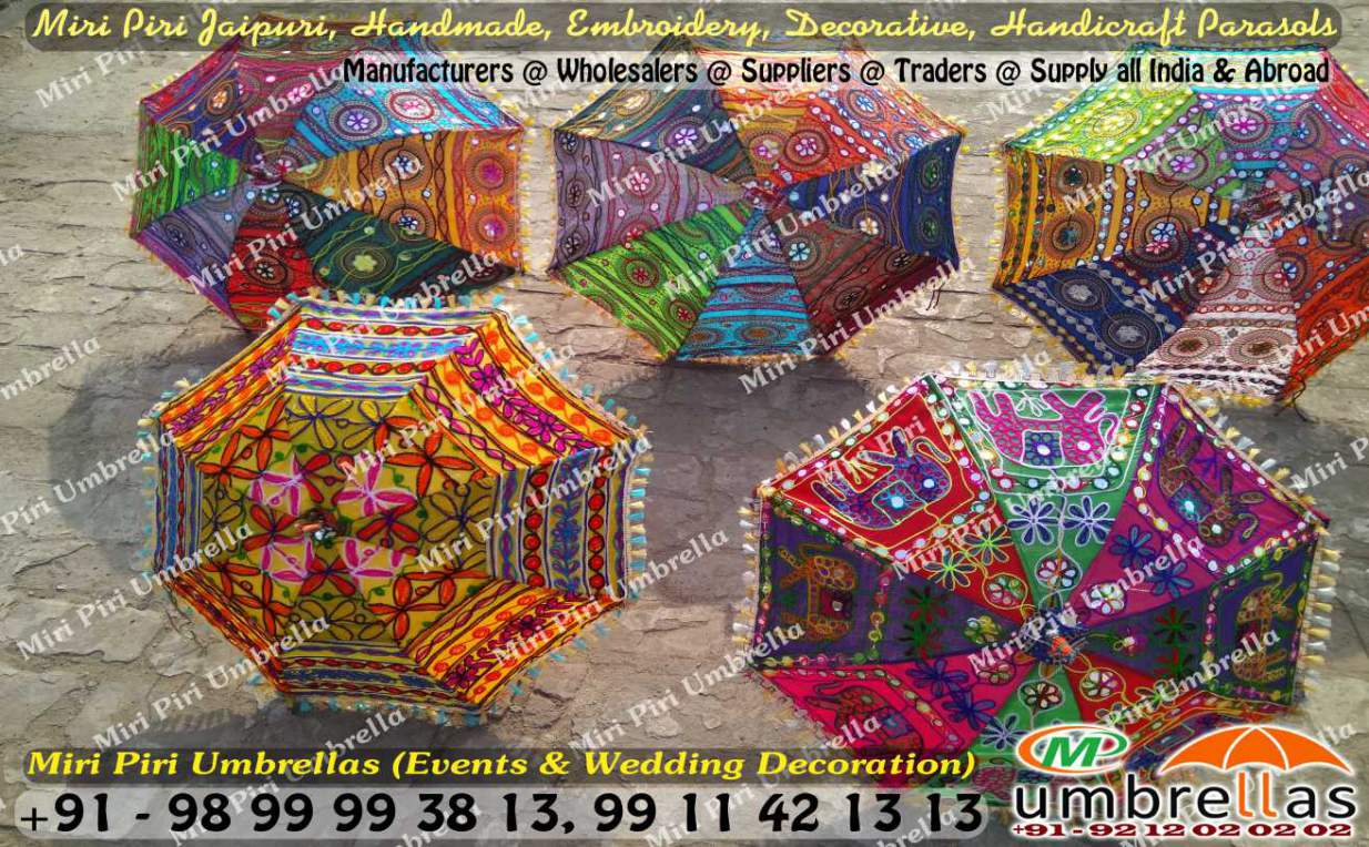 Rajasthani umbrellas parasols manufacturers suppliers rajasthani umbrellas gujarati umbrella handicraft parasols junglespirit Images