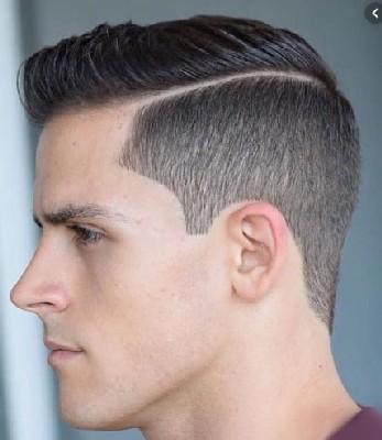 rambut layer garis