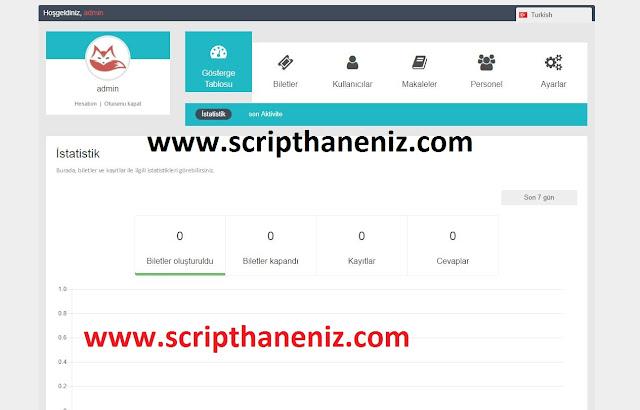 Online Destek Scripti Admin Paneli 3