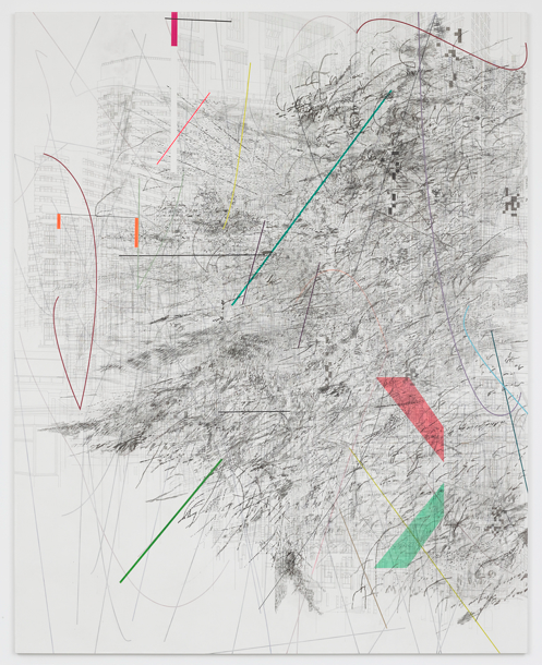 drawing Julie Mehretu Mogamma: Part 1, 2012 Ink and acrylic on canvas 457.2 x 365.8 cm