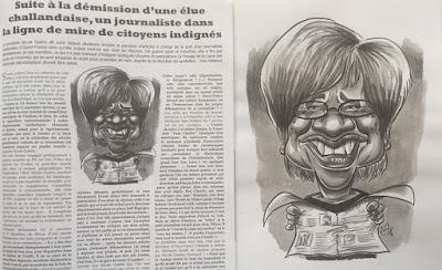 Dans le Sans-Culotte de ce mois-ci !! Une élue (Nicole Guérin) persécutée par un journaliste... ©Guillaume Néel