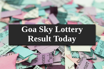 Goa Sky Lottery Result Today