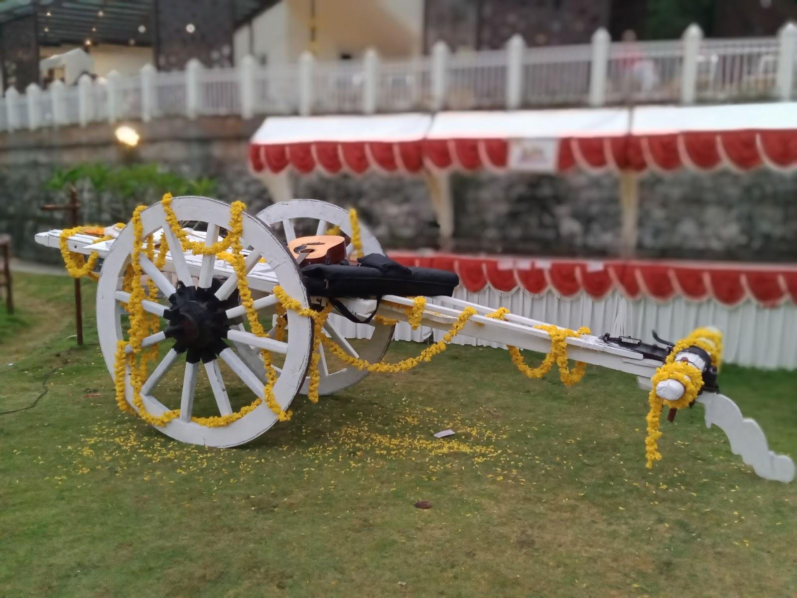 bullock cart wedding decoration Traditional Village Gadda For Wedding