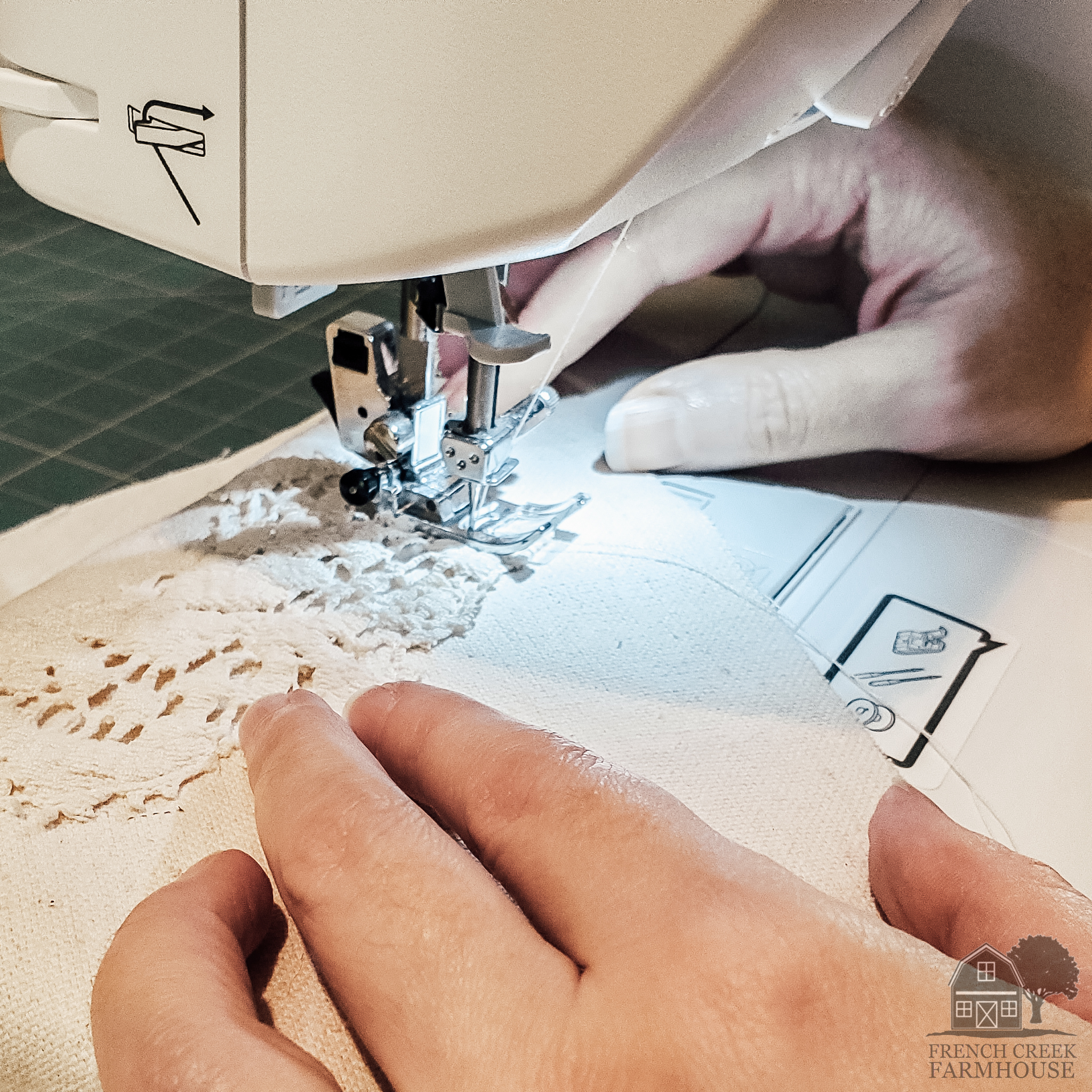 Add appliques by top stitching