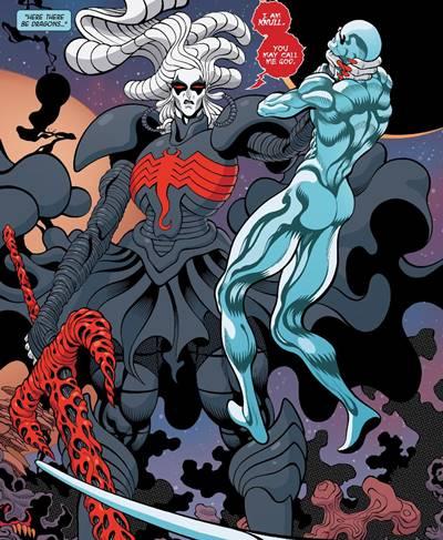 Knull con su armadura simbionte y la espada All Black