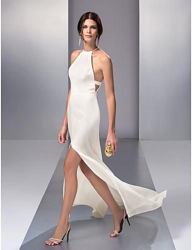 Vestido de Noche Blanco Columna