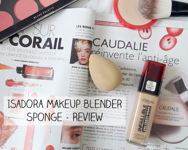 isadora make up eponge maquillage revue