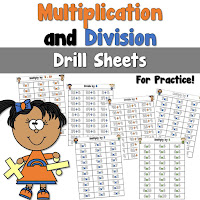 Multiplication and Division Drill Sheets