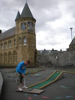 Crazy Golf course in Aberystwyth