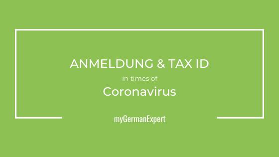 Anmeldung Coronavirus