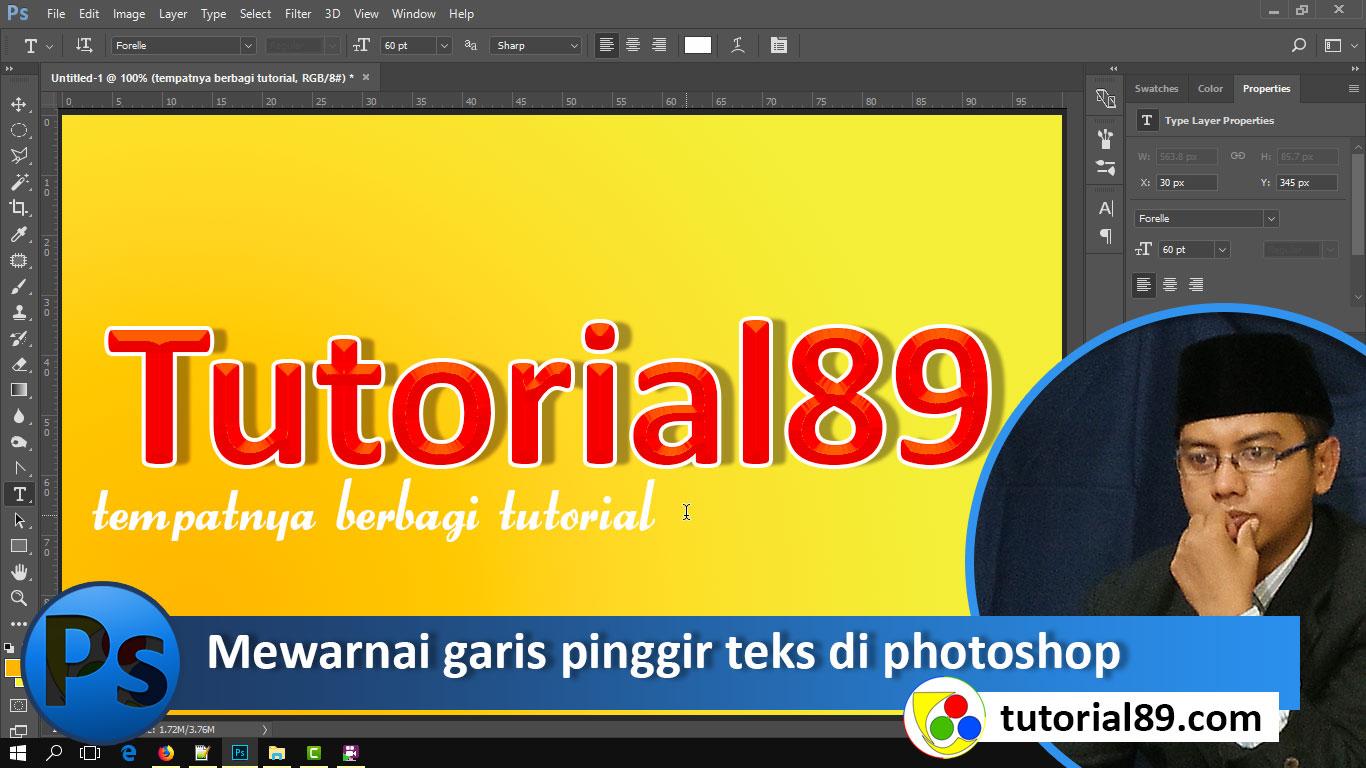 Cara Mewarnai Tulisan Di Photoshop Cs6 Mewarnai G
