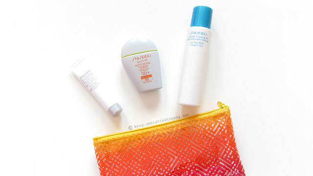 Shiseido S.O.S. (Save Our Skin) Kit featuring Shiseido Sports BB Broad Spectrum SPF 50+ WetForce in Dark, Shiseido Ultimate Cleansing Oil, Shiseido Urban Environment UV Protection Cream SPF 40