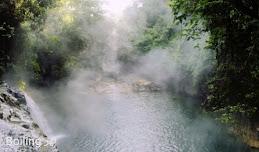 النهر المغلي الوحيد في العالم