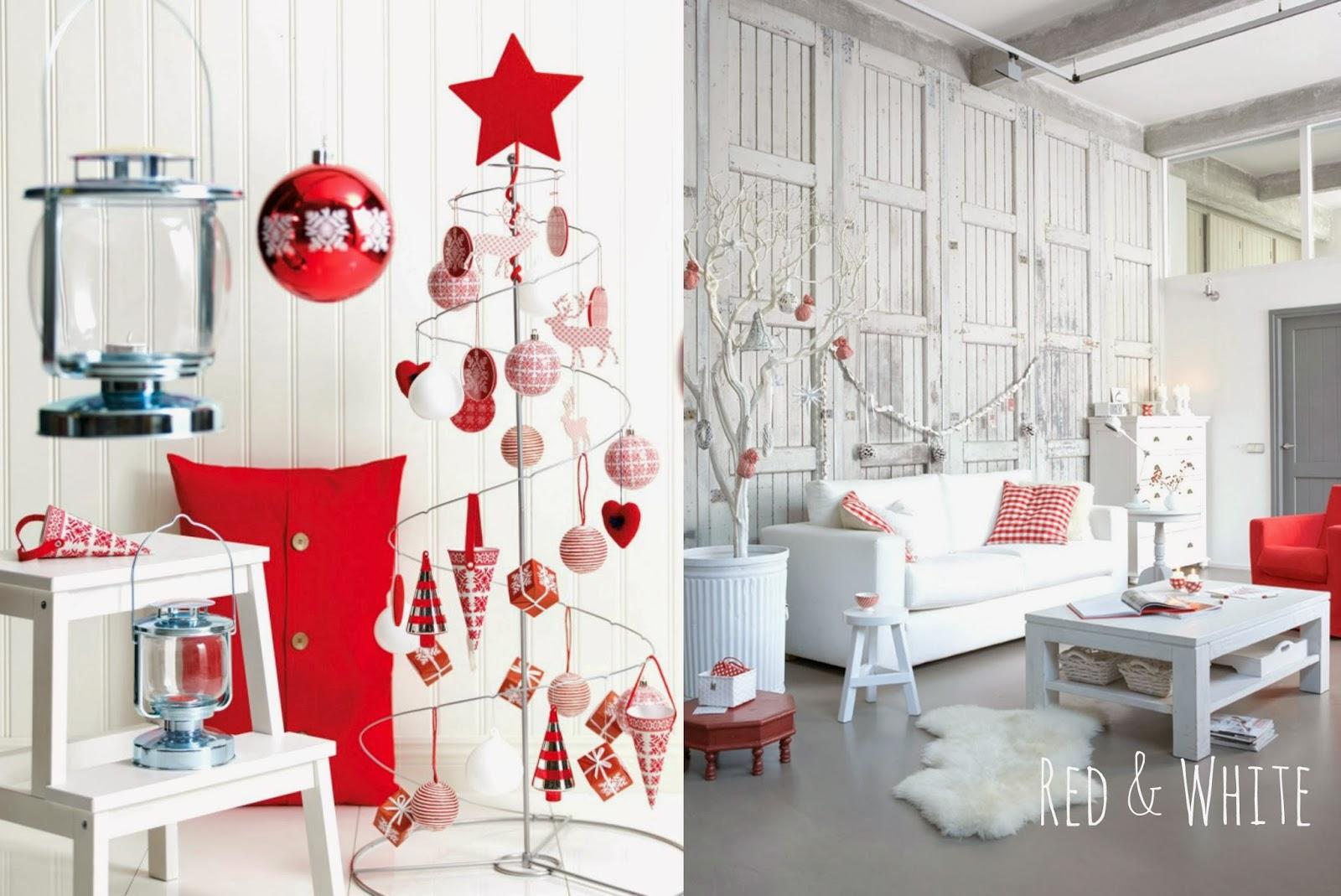 święta w bieli i czerwieni