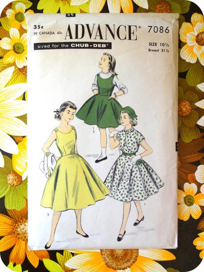 c42654fc Retro kjole mønster