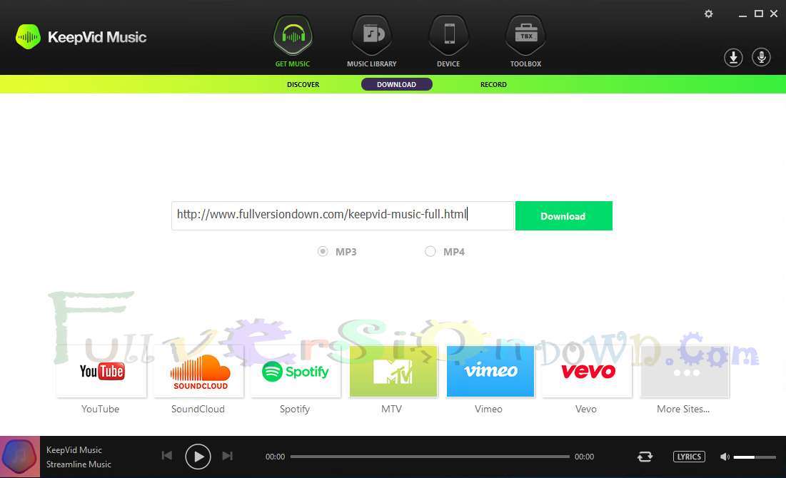 Download KeepVid Music Full Version