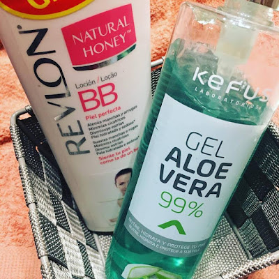 revlon, natural honey, loción corporal, gel de aloe vera, kefus,
