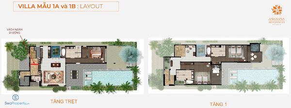 mẫu villa 1 tại dự án angsana Hồ Tràm