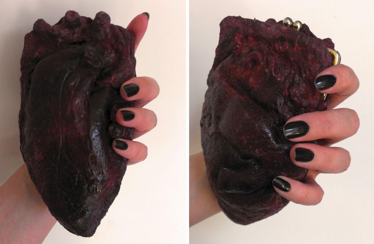Chrix Design: Human Heart Clutch Purse