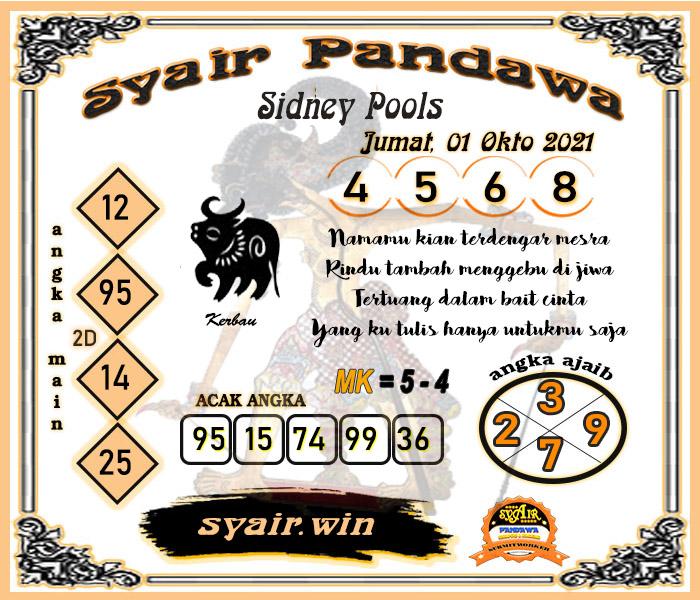 Syair Pandawa Sydney Jumat 01-okt-2021