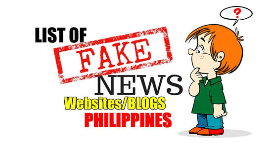 List of Philippines Fake News blogs and websites listed in Wikipedia