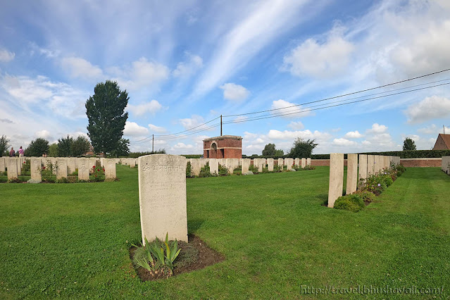 Graves of Indian Soldiers of First World War in Belgium - Nine Elms Cemetery