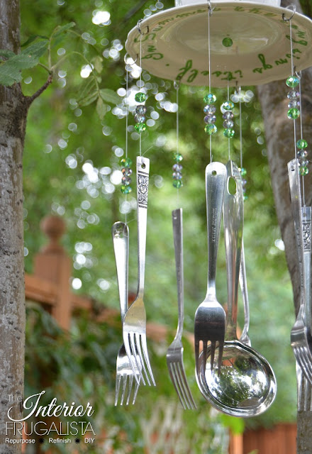 DIY Wind Chimes with thrift store silverware
