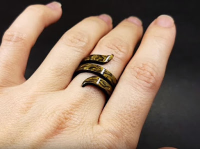 Ajustable polymer clay ring Moroccan spice
