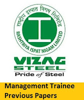 RINL Vizag Steel Plant Management Trainee Previous Papers